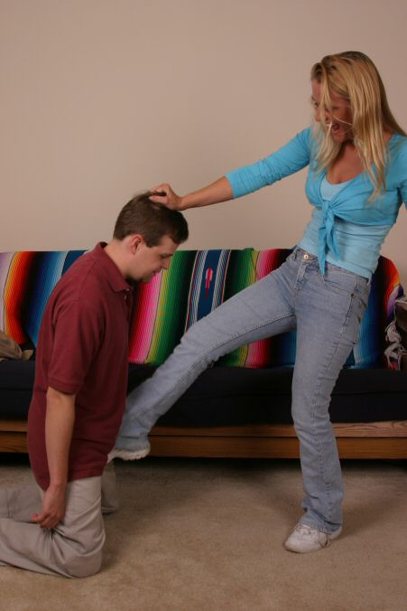 Bare foot ball busting